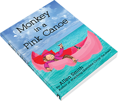Monkey in a Pink Canoe